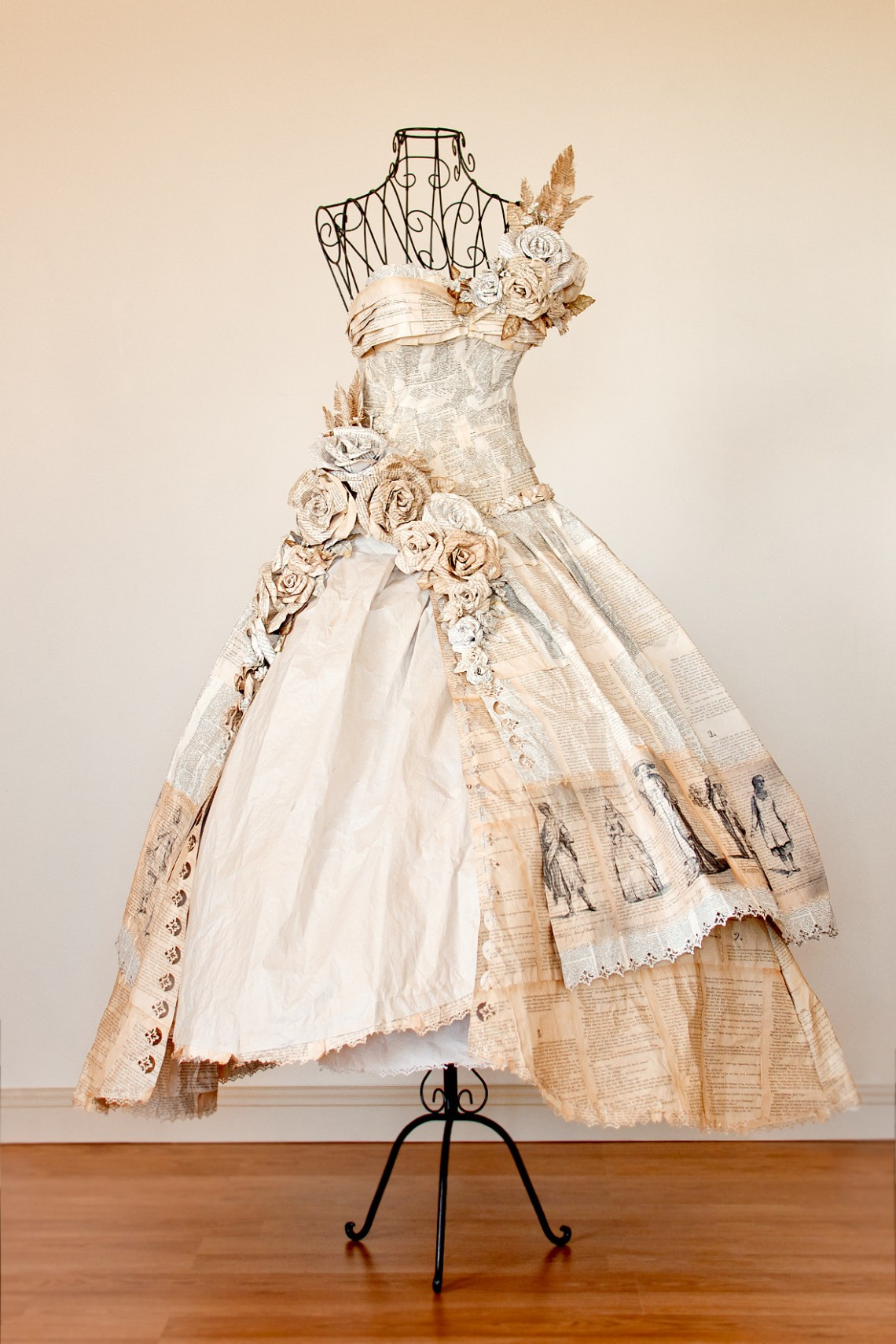 Robe en papier