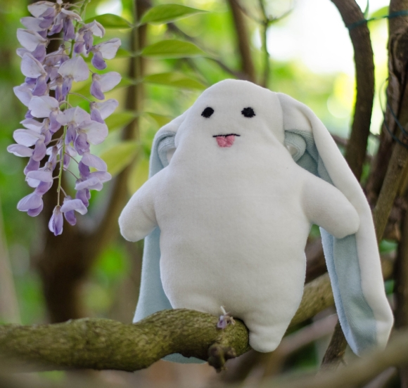 Kit couture doudou Coud2main lapin blanc bio